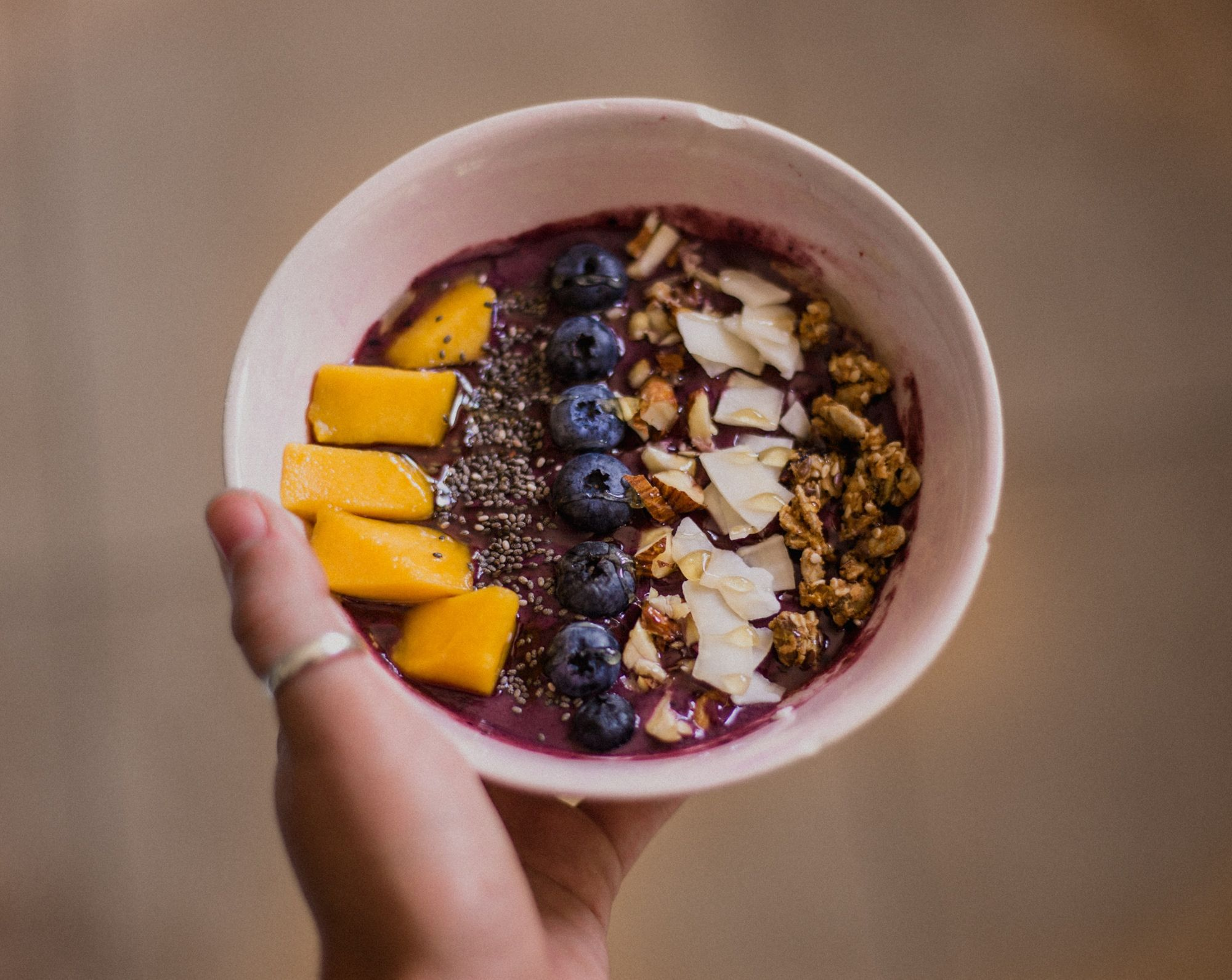 Acai bowl for breakfast