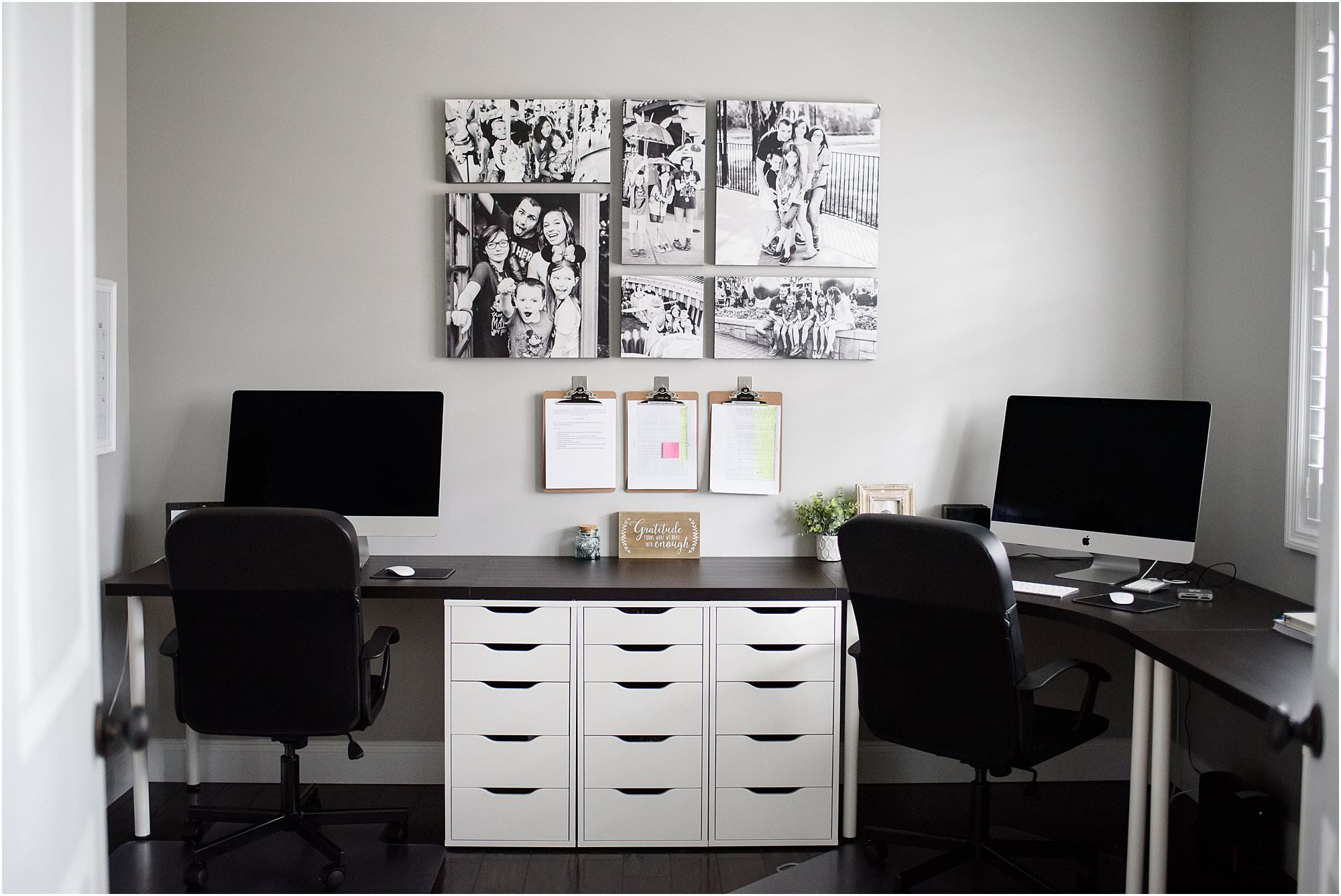 Crystal Satriano's IKEA home office
