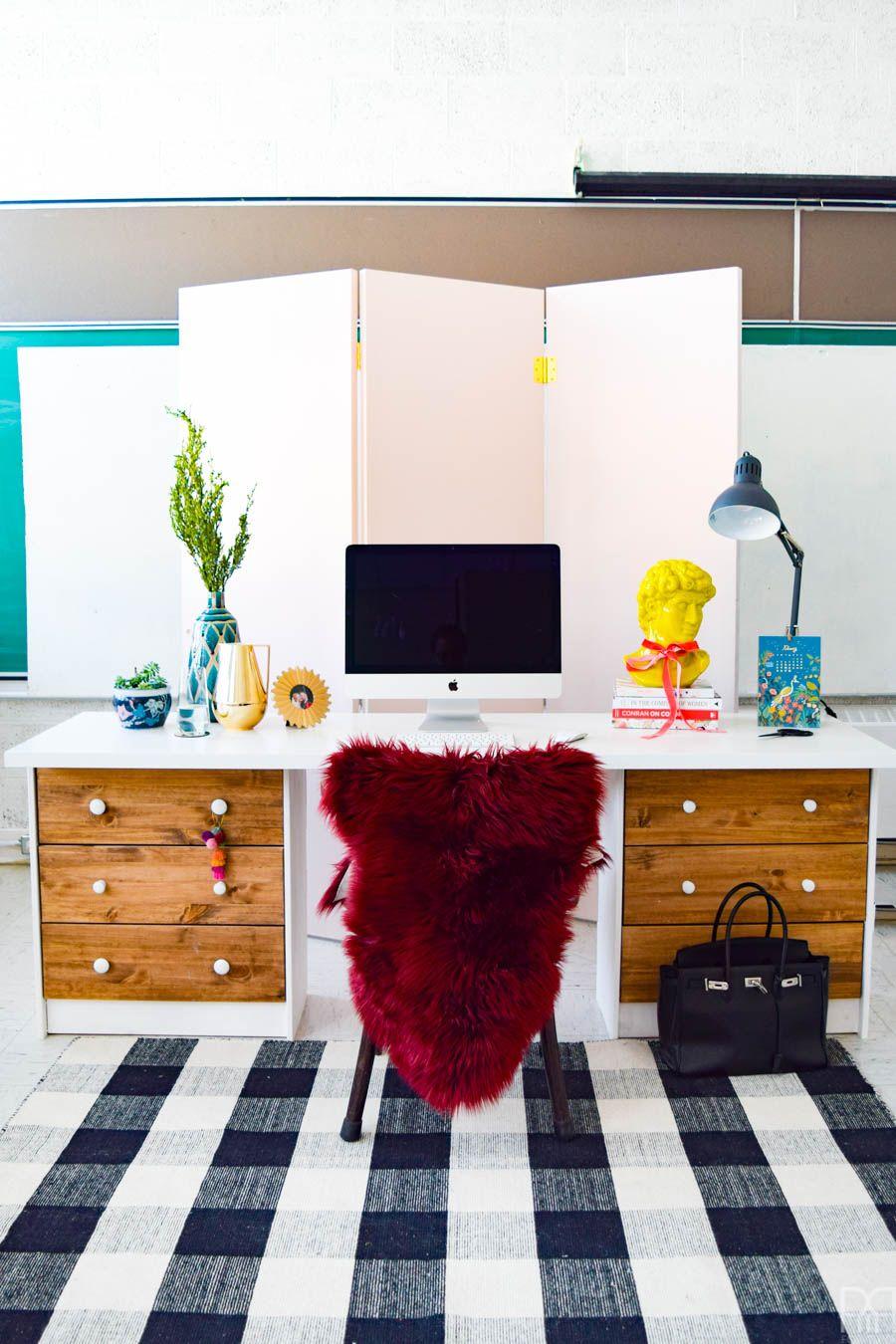 On-desk home office divider