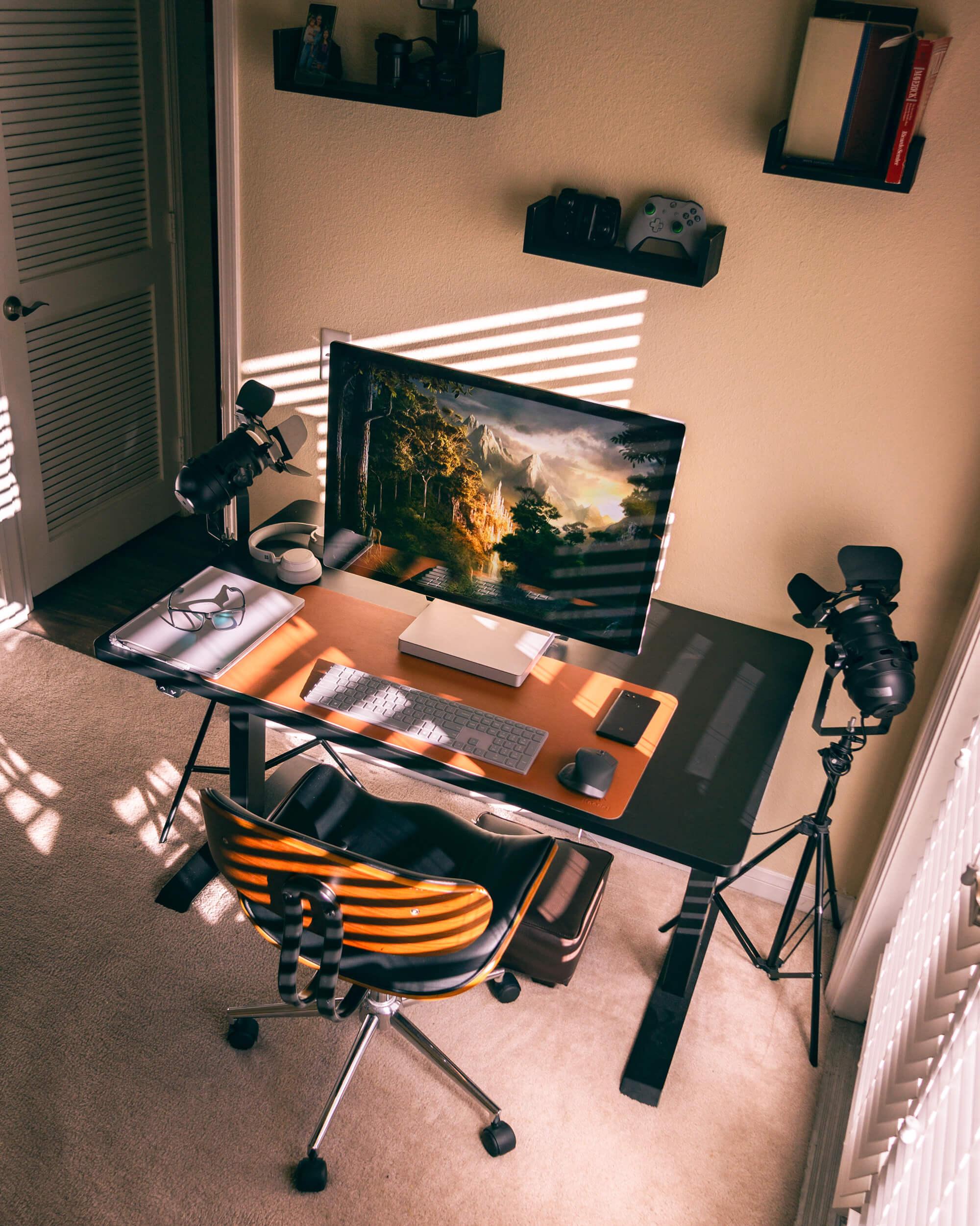 Freelance graphic design setup featuring Microsoft Surface Studio 2