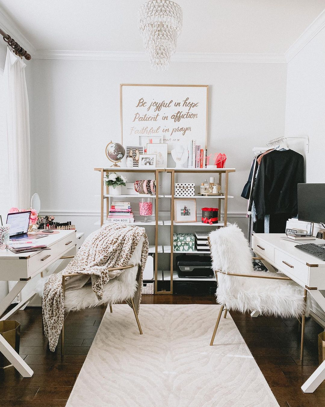 Back-to-back home office setup