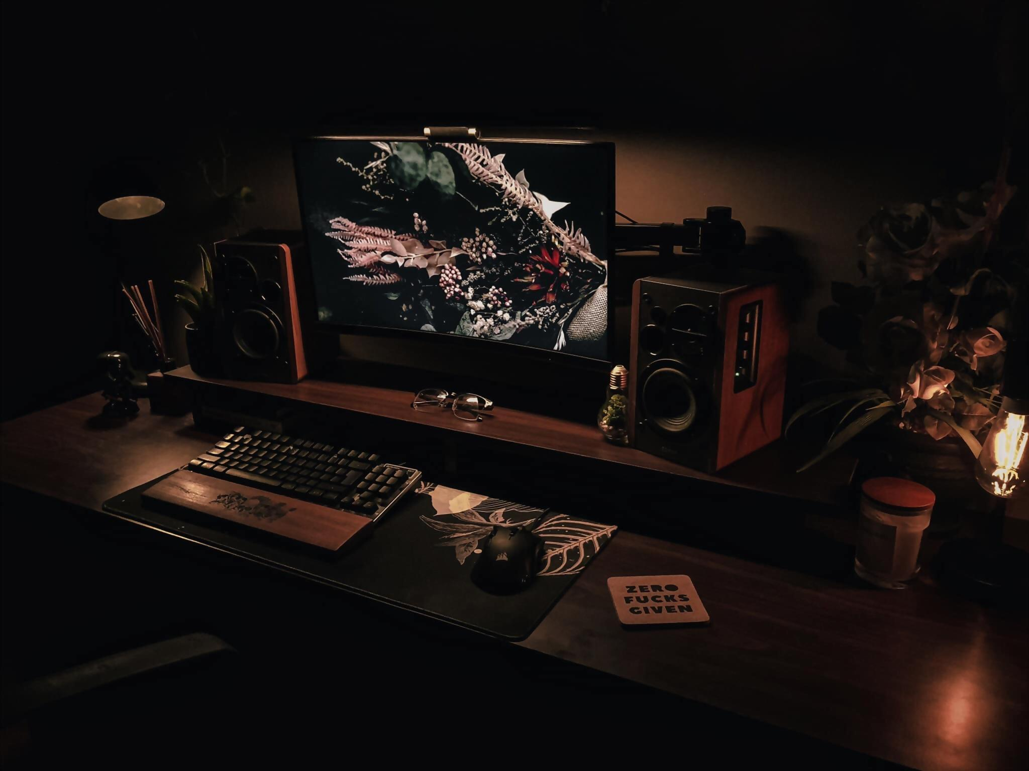 Jason has completed his setup with an ambient Baseus light bar attached to his monitor