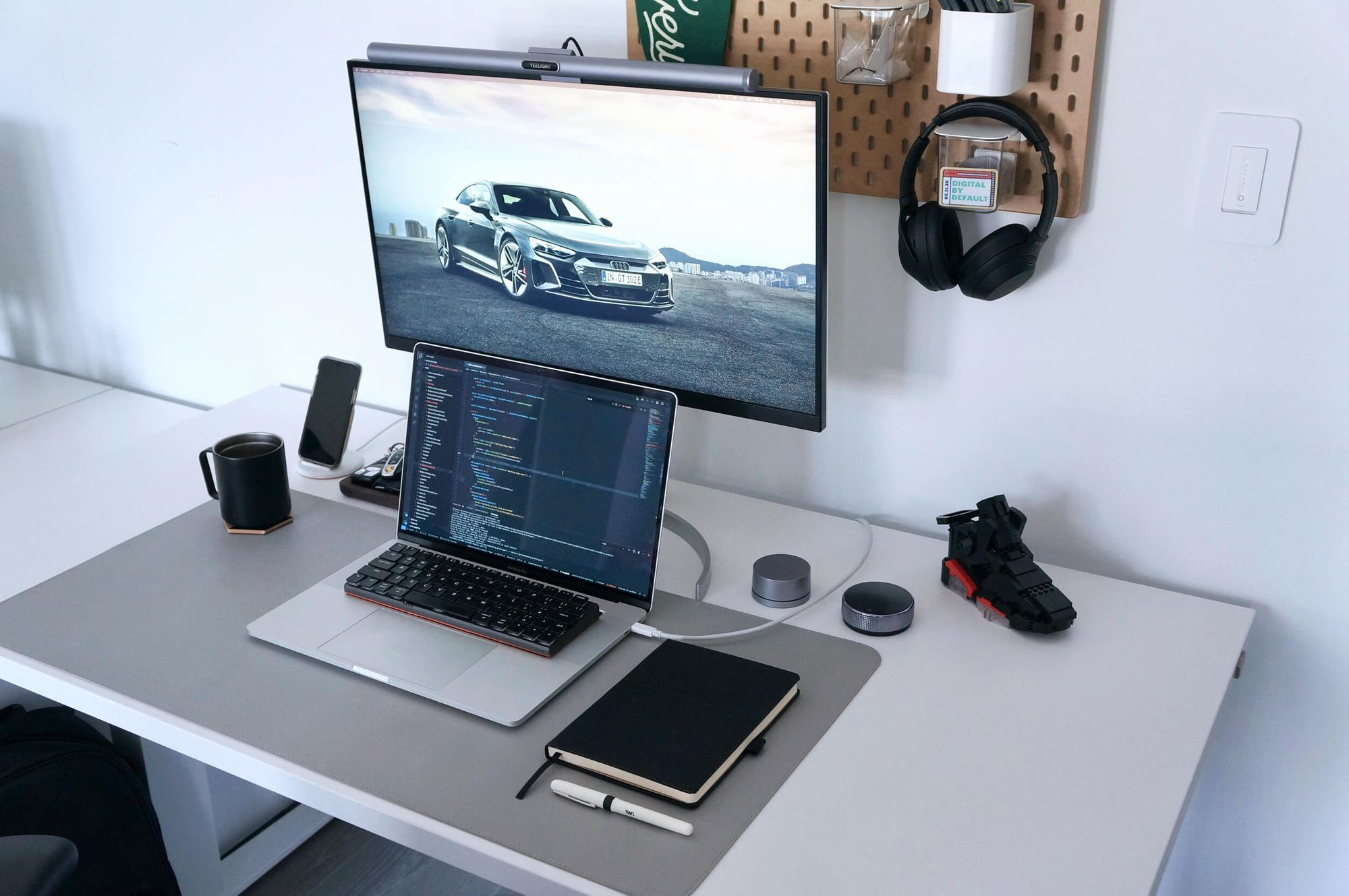 Shopify front-end developer's WFH setup