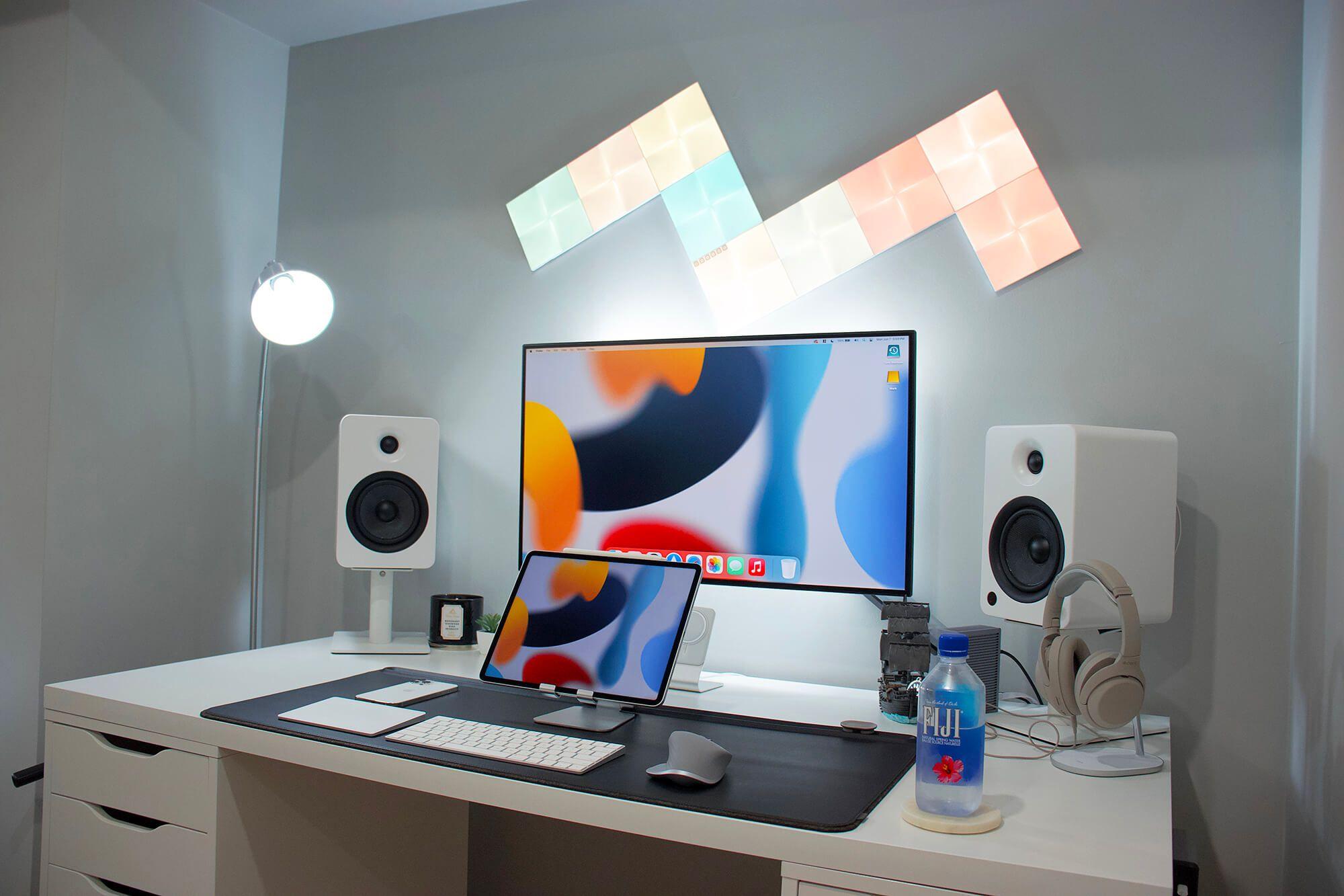 IKEA desk setup with a minimal vibe