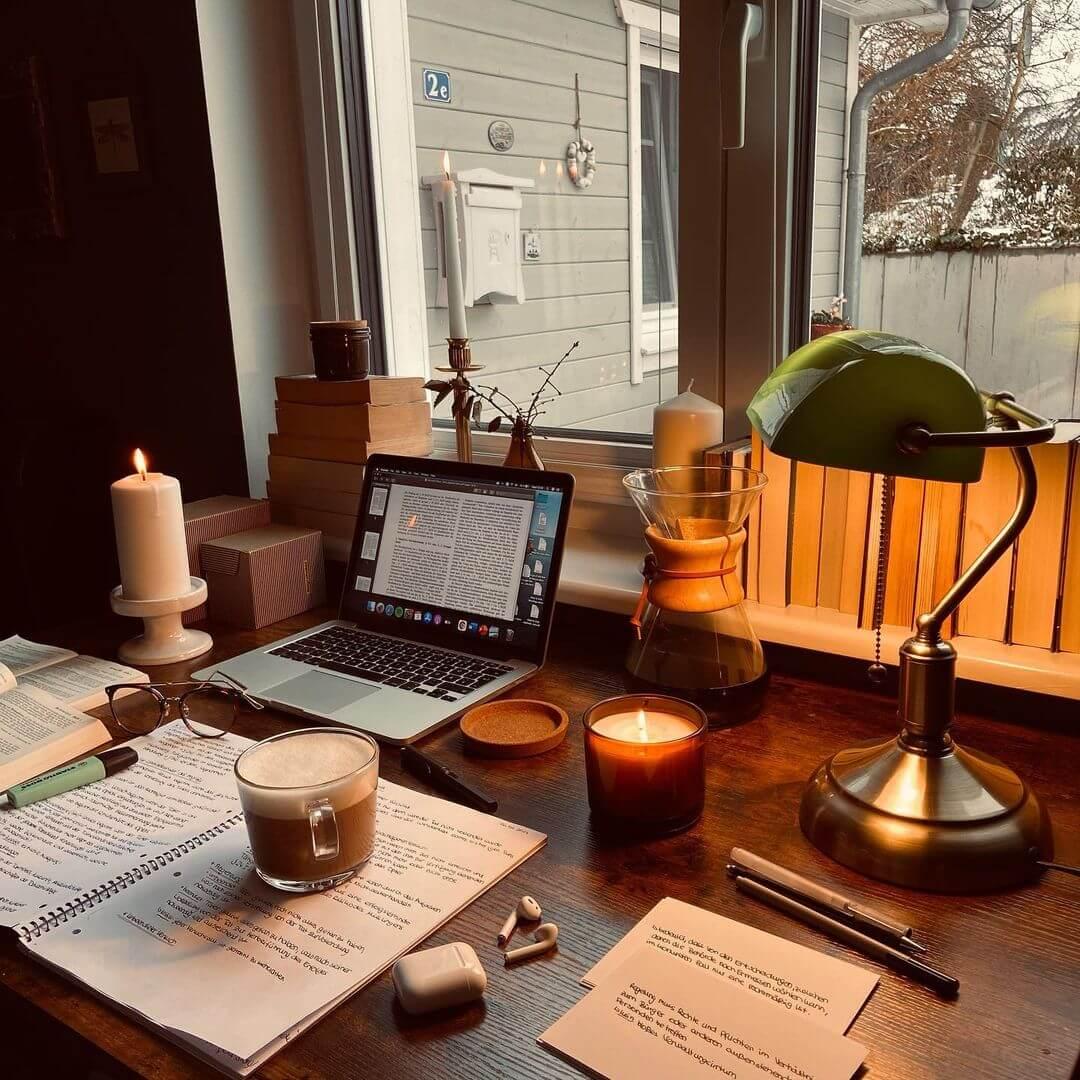 Olja's study setup in Germany