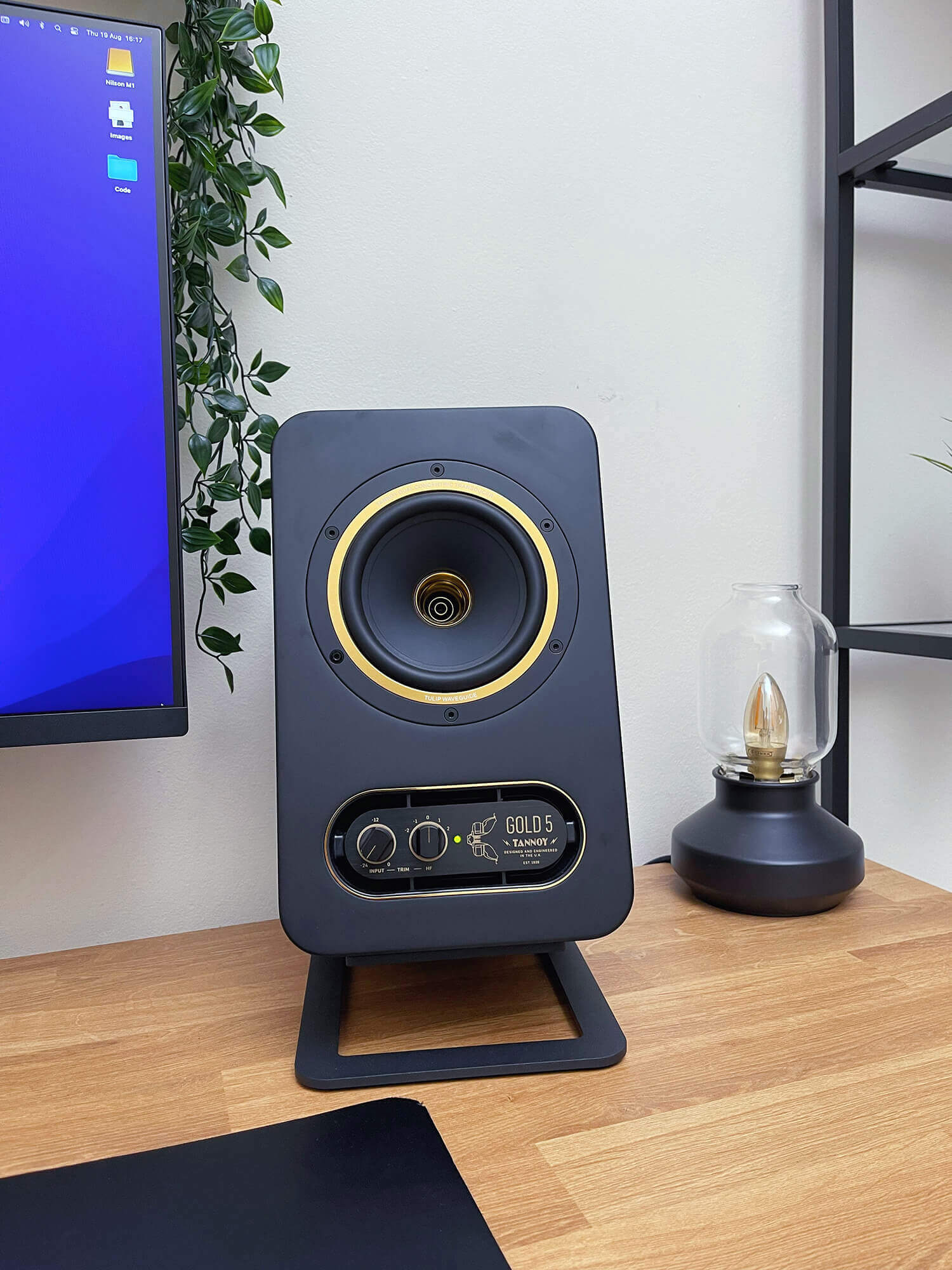 Tannoy Gold 5 speakers features front panel controls for volume and tweeter level